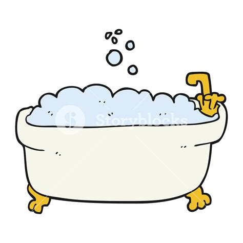 cartoon bathtub freehand drawn cartoon bathtub royalty free stock image