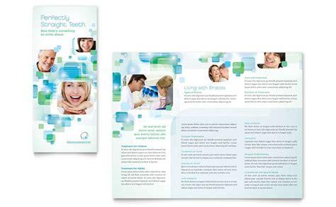 dental brochure templates orthodontist dentist brochure postcard and flyer designs