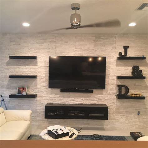 25 best ideas about tv wall shelves on