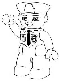 Critters Cartoons Lego Police Person sketch template