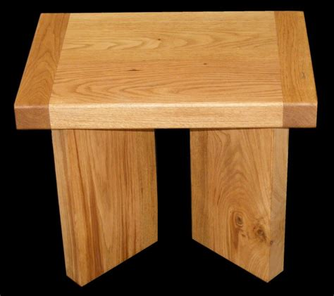 Handmade Oak Table - handmade modern contemporary solid oak side table