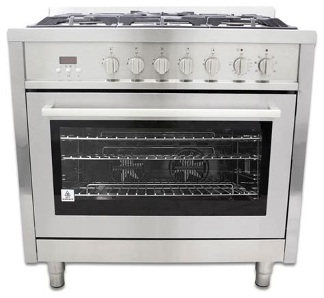 Oven Gas Cosmos Cosmo 36 Quot Dual Fuel Freestanding Slide In Range With Electric Oven F965 Contemporary Gas