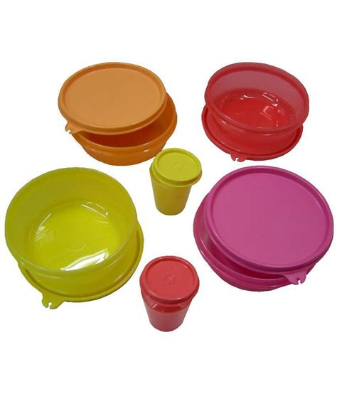 Tupperware Set tupperware multicolor bowls set of 4 with 2 pickle keeper available at snapdeal for rs 1125