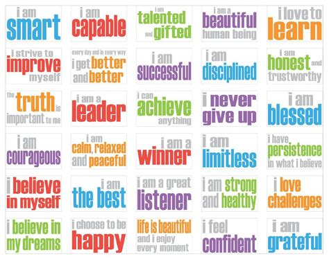 printable affirmations quotes positive affirmations printable quote addicts