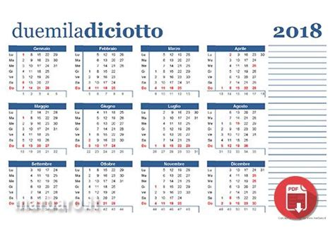 Calendario 2018 Con Festività Italiane Calendari 2018 Da Stare Con Le Festivit 224 Italiane
