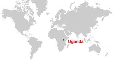uganda on world map uganda map and satellite image