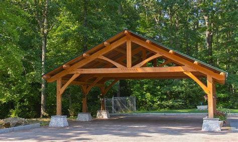 custom built wood carports diy post and beam carport