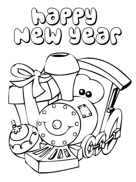 Happy New Year Coloring Pages Coloring Home Happy New Year Coloring Pages
