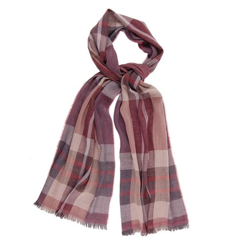 tom and harry lightweight wool scarf bordeaux