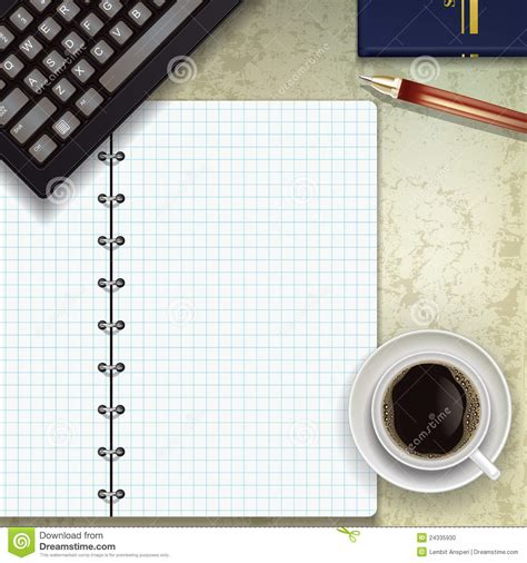 Desk Notepad L office desk with notepad stock photo image 24335930