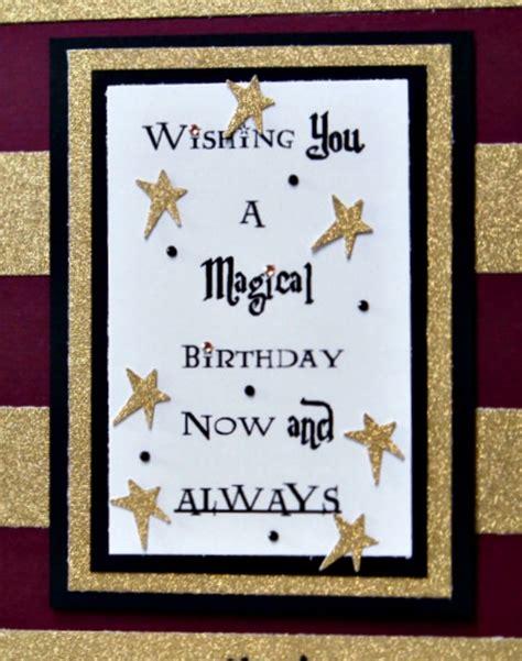 answer  chocolate harry potter birthday card