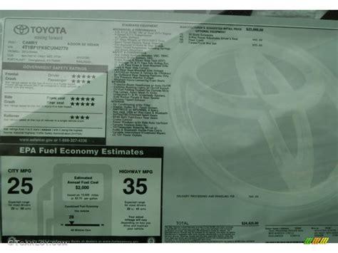 Toyota Window Sticker By Vin Toyota Vin Window Sticker Autos Post