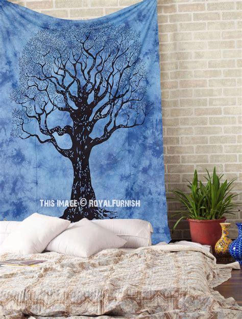 tree of life comforter blue twin wild tree of life tie dye dorm tapestry wall