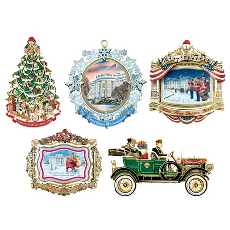 white house christmas ornament set 2008 2012 ornaments
