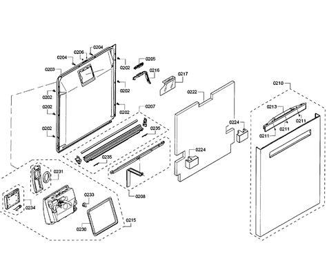 bosch dishwasher parts diagram bosch dishwasher parts model shp65t55uc01 sears