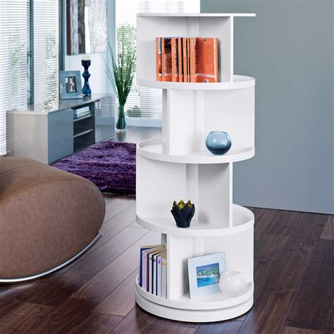 revolving bookcase open corner 4shelf bookcase