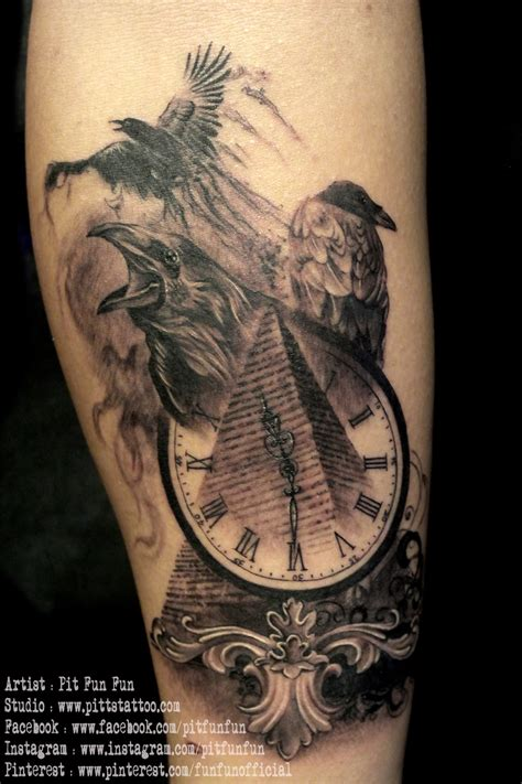 pyramid tattoo designs 20 amazing pyramid clock tattoos