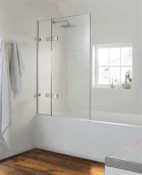 Showers Over Baths valletta bath screen with in line panel and hinged leaf