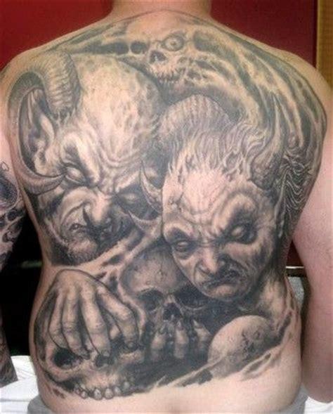 tattoo pictures skulls demons skull back tattoo designs paradise tattoo gathering