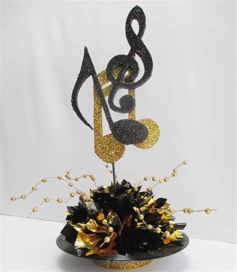 motown record themed centerpieces designs by ginny