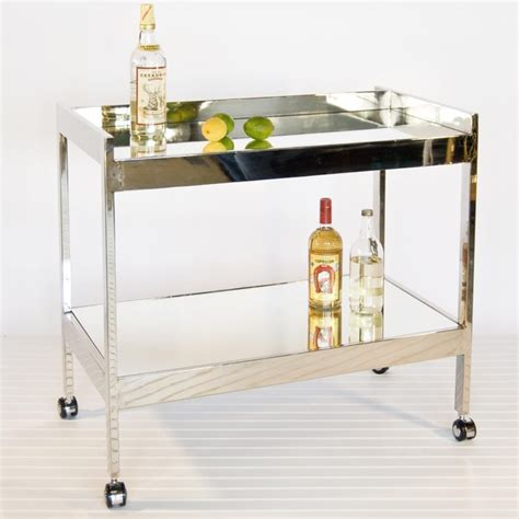 modern bar cart worlds away roland nickel plated bar cart modern bar carts by candelabra