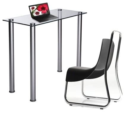 sleek computer desk sleek clear glass computer desk or laptop table modern