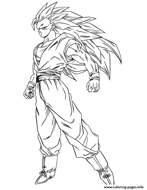 coloring pages goku anime dragon ball goku ssj3 coloring page coloring pages