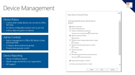 Office 365 Mdm Henk S Feature Comparison With Mobile Device