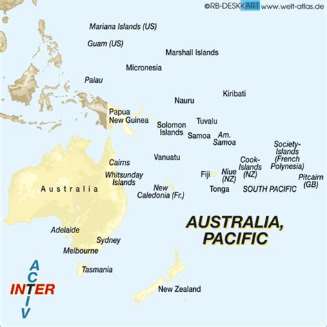 australia pacific map map of australia pacific map in the atlas of the world
