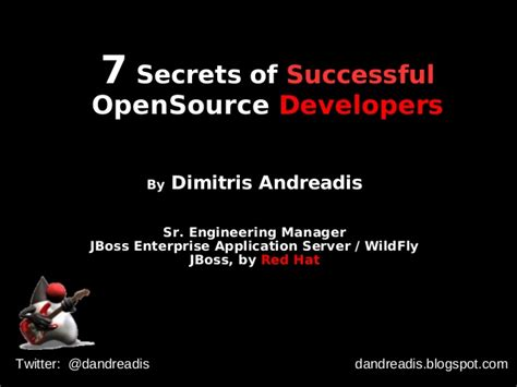 7 Secrets Of Successful by 7 Secrets Of Successful Opensource Developers By Dimitris