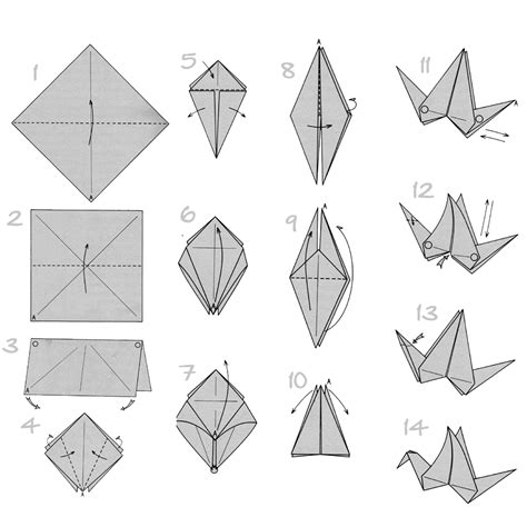 Paper Folding Guide - doodlecraft origami flapping paper crane mobile
