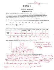 Statistics Section 1 Answers by Statistics For Engineers 1 Answer Key Name I