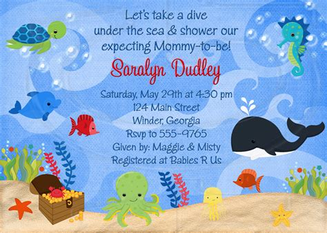 Baby Shower The Sea Theme by Themed Baby Shower Invitations Wblqual