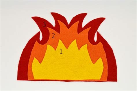 How To Make Flames Out Of Construction Paper - paper flames template pictures to pin on pinsdaddy