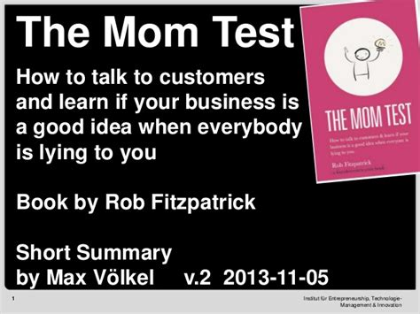 the business idea merit test summary of the test v2 2013 11 05