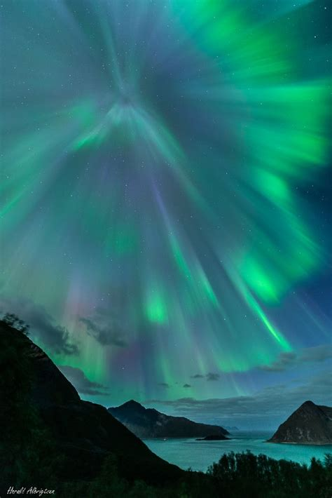 northern lights tromso september auroras taken by harald albrigtsen on september 12 2014