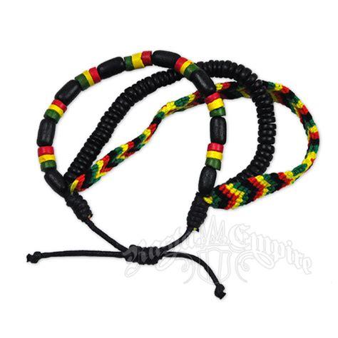rasta bead and weave bracelet 3 in 1 set rastaempire