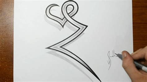 heart letter tattoo designs drawing the letter z combined with a ideas