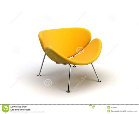 modern yellow yellow modern chair stock photography image 9639482