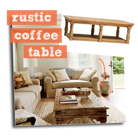 home decor coffee table get the look rustic coastal living room tuvalu home