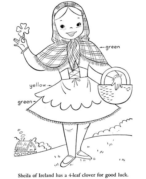 irish girl coloring page coloring pages st patricks day az coloring pages