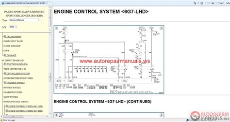 service and repair manuals 1995 mitsubishi pajero engine control mitsubishi pajero sport 2010 service manual auto repair manual forum heavy equipment forums