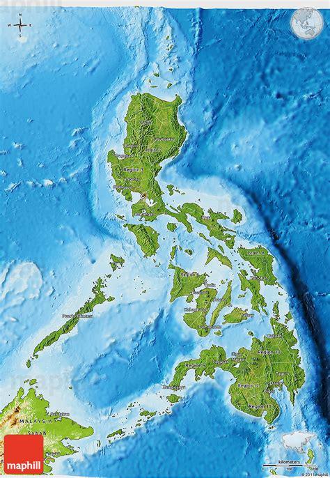 phil map via satellite philippinen satelliten karte
