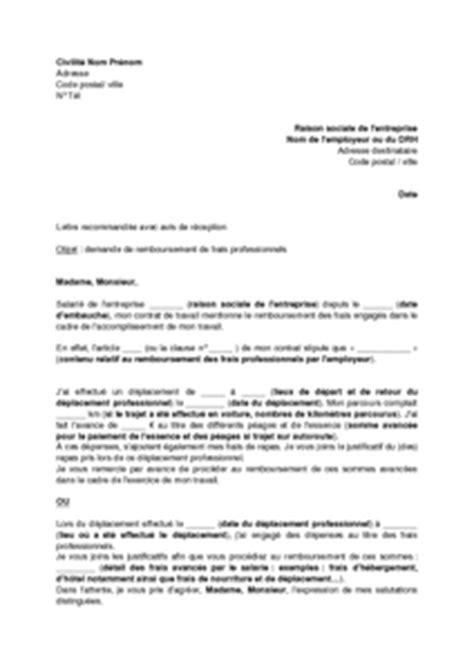 Lettre Demande De Remboursement De Frais De Visa exemple gratuit de lettre demande remboursement frais