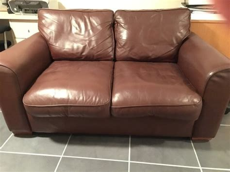 Two Seater Couches For Sale by 2 Seater Brown Leather Sofa For Sale In Ballincollig Cork