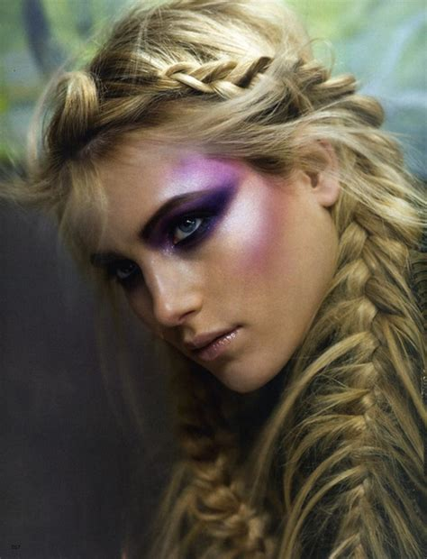 fashion icon plaited hair beauty fashion hair make up plait image 40363 on