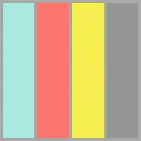 colors that go with yellow tiffany blue coral lemon yellow and grey artigas