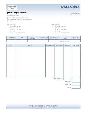 best photos of sales order form template excel sales