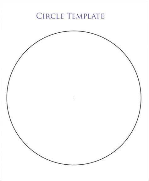 6 inch circle template 1 6 inch printable circle label template word