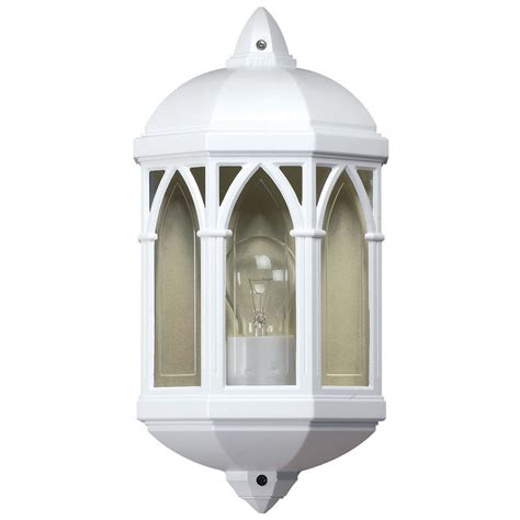 endon lighting white outdoor flush mounted wall light